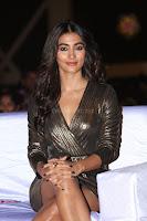 Pooja Hegde looks glamarous in deep neck sleevless short tight golden gown at Duvvada Jagannadham thank you meet function 087.JPG