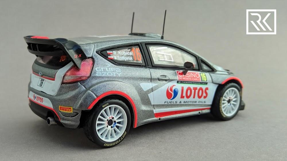Zdjęcie modelu IXO Direkt Collections / The Diecast Club Ford Fiesta RS WRC, Rallye Monte-Carlo 2015, Robert Kubica / Maciej Szczepaniak