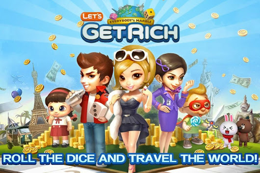 Download Games LINE Let's Get Rich Android Apk Asik         |          Games Android Asik