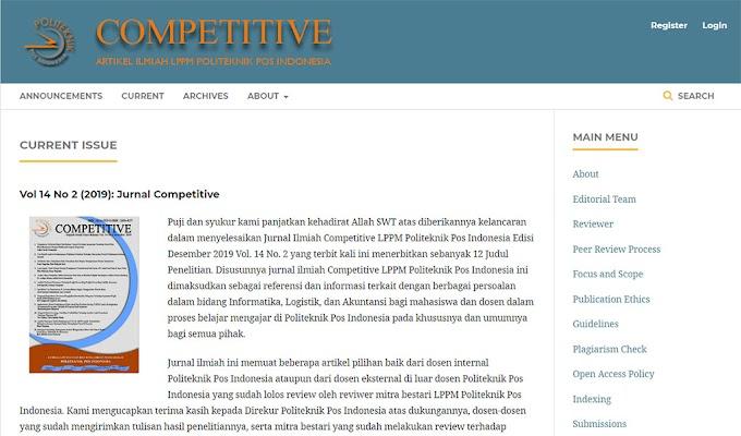 Penerimaan Artikel Competitive No. 01 Juni 2020