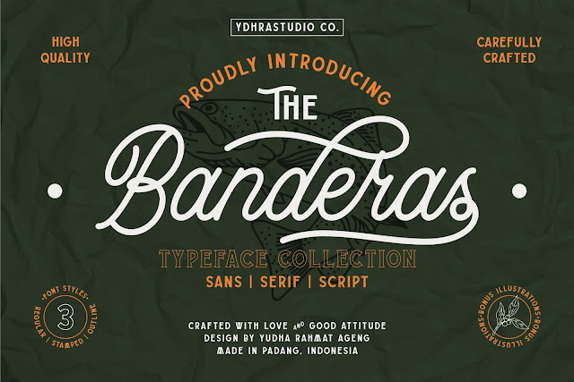 Banderas Typeface Collection Download Font Free