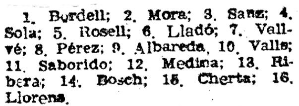 Recorte de El Mundo Deportivo, 8/2/1952
