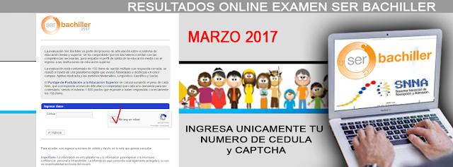 www.serbachiller.ec resultados examen ser bachiller 2017 pruebas INEVAL
