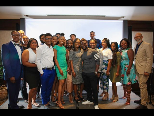 Comedian Kevin Hart surprises 18 students with $600,000 worth of College Scholarships