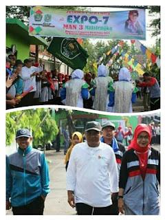 Expo 7 MAN 3 Majalengka: Kabid Madrasah Lepas Jalan Sehat dan Karnaval