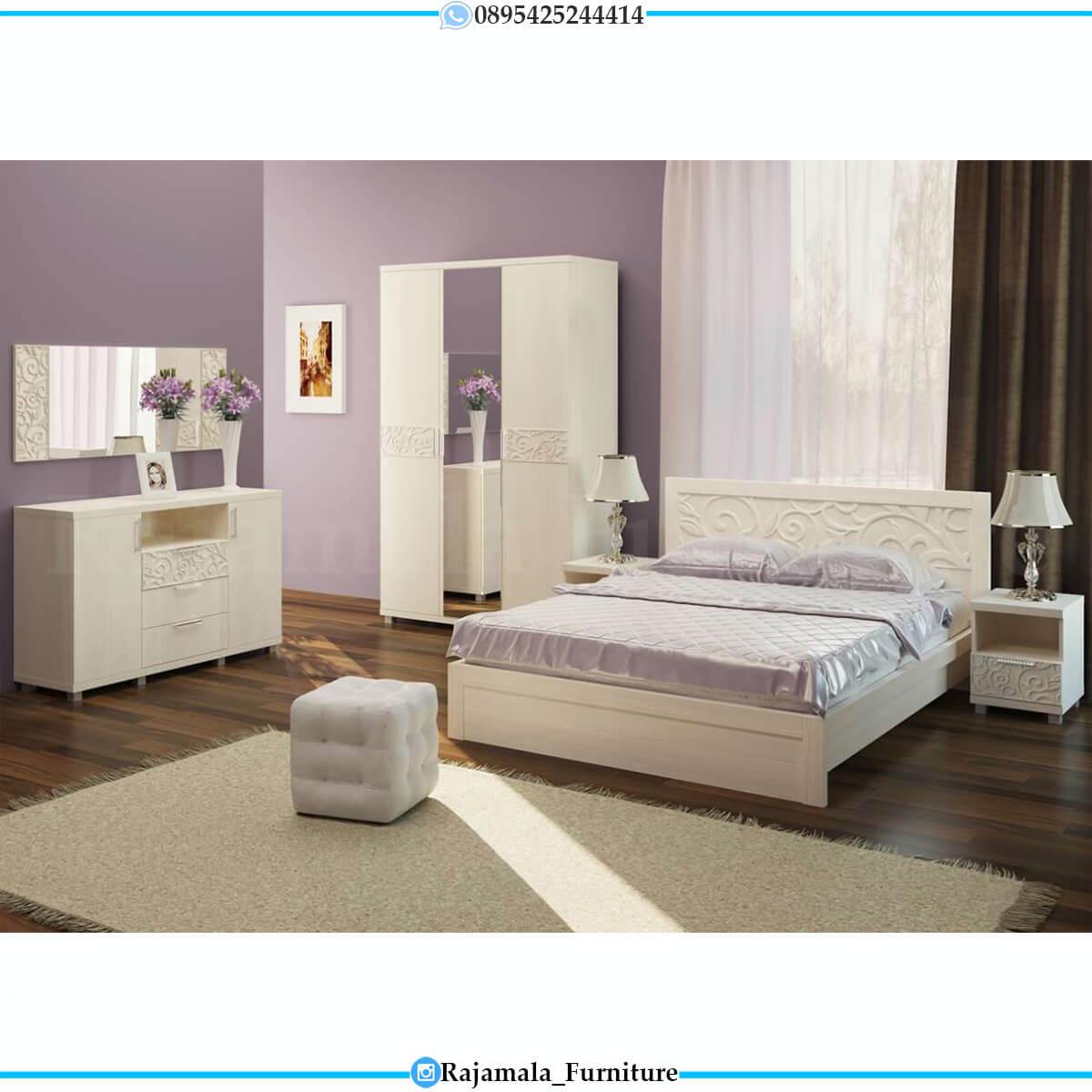 Kamar Set Minimalis Jepara Putih Duco Classic Luxury RM-0646
