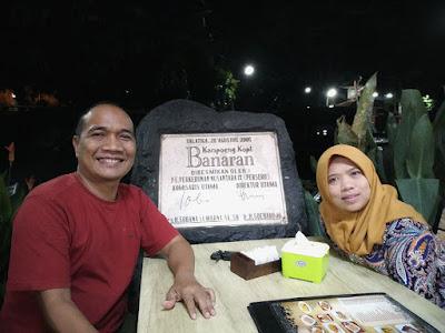 Malem minggu berdua serasa masih pacaran di Kampoeng Kopi Banaran hehehe.