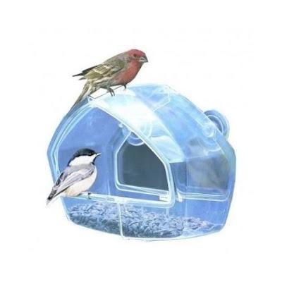 Perky-Pet Birdscapes Clear Window Feeder 348