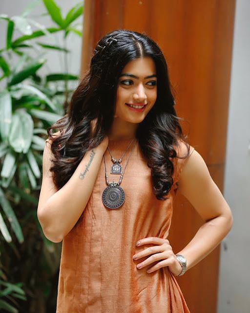 rashmika mandanna photos pink dress