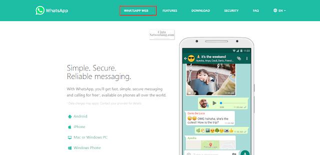 Cara Menggunakan Whatsapp Web Dari Android Ke Komputer/Laptop - Cintanetworking.com