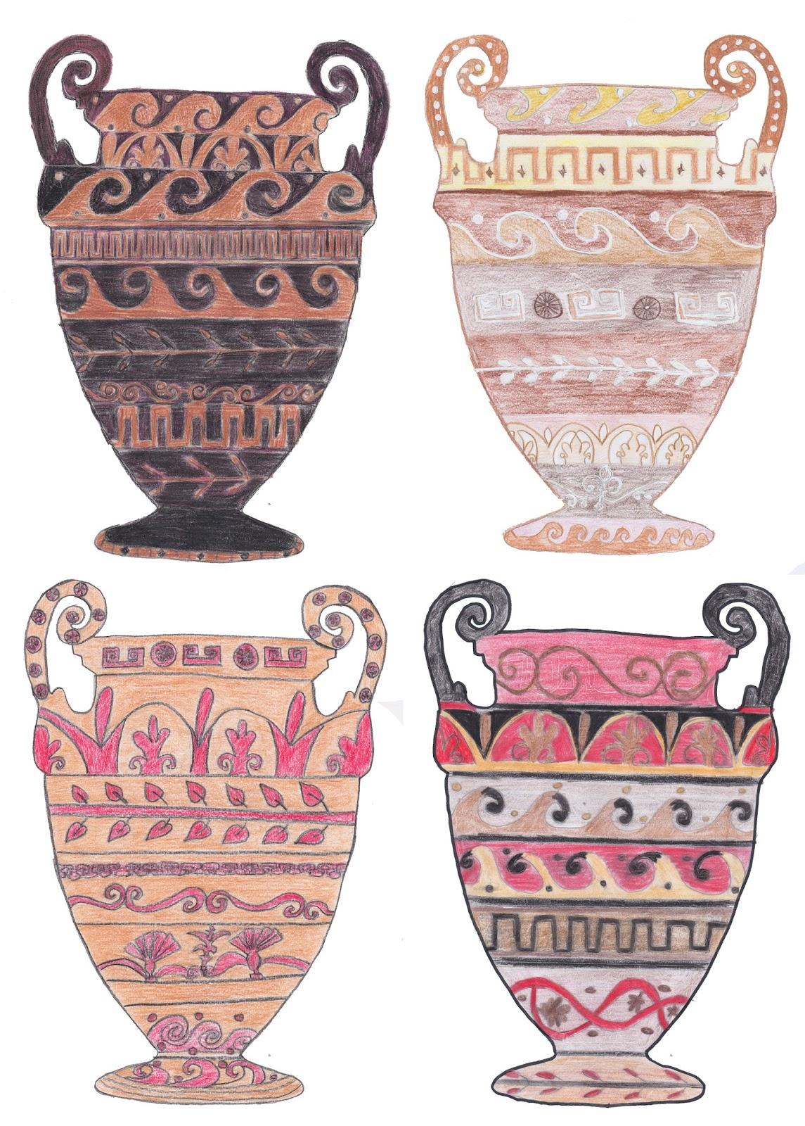 Decorazioni Dei Vasi Greci.Prof Argenti On Line Decora Il Vaso Greco Con Le Decorazioni