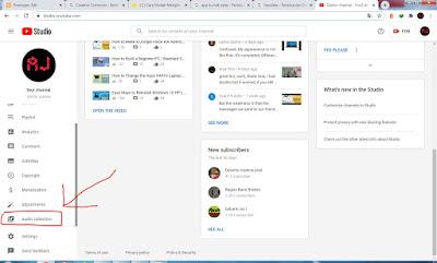 Gunakan audio dari youtube library