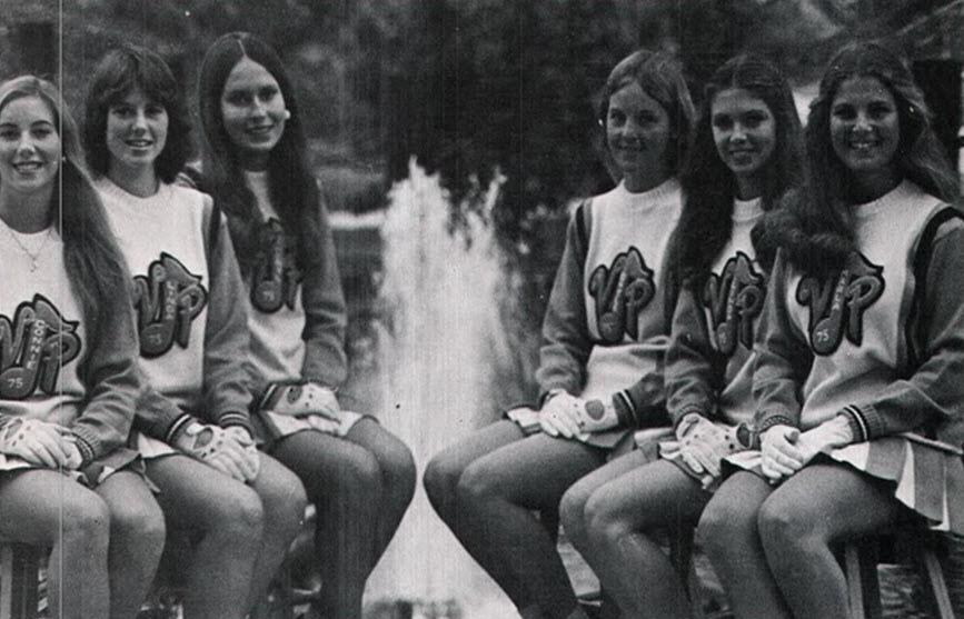 B Amp W Photographs Of Cheerleaders In 1960s 70s Vintage