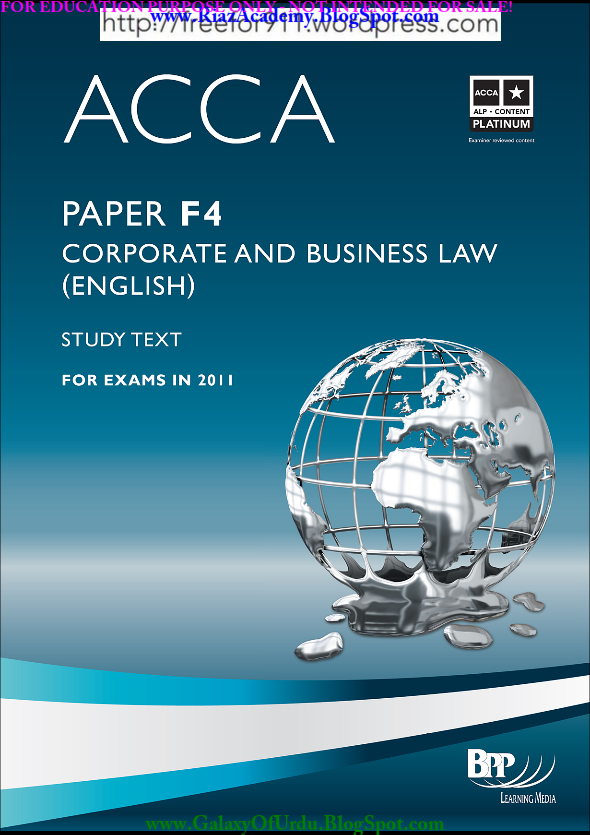 2011-ACCA-F4-STUDY TEXT - CORPORATE AND BUSINESS LAW