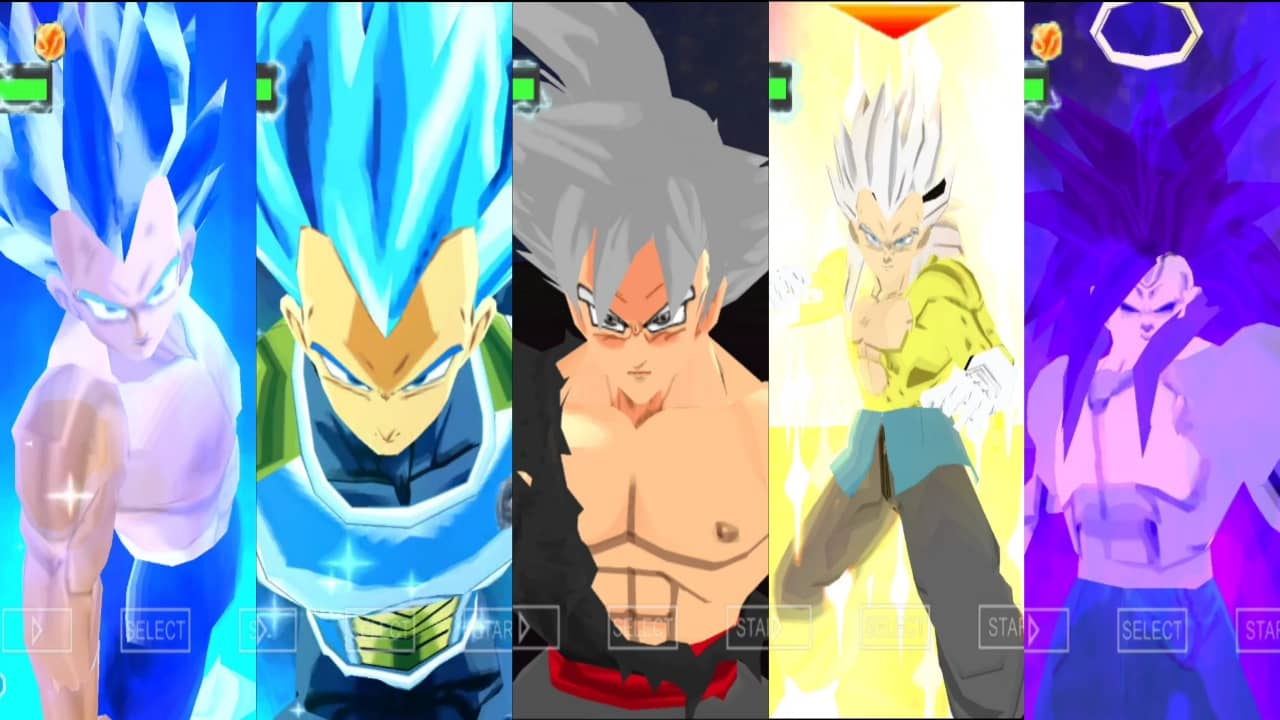 Dragon Ball Super Vegeta all forms