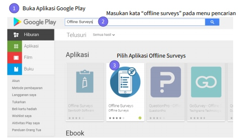 Buka aplikasi Google Play