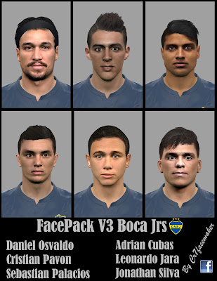 PES 2016 Facepack V3 Boca Jrs by CR7Facemaker
