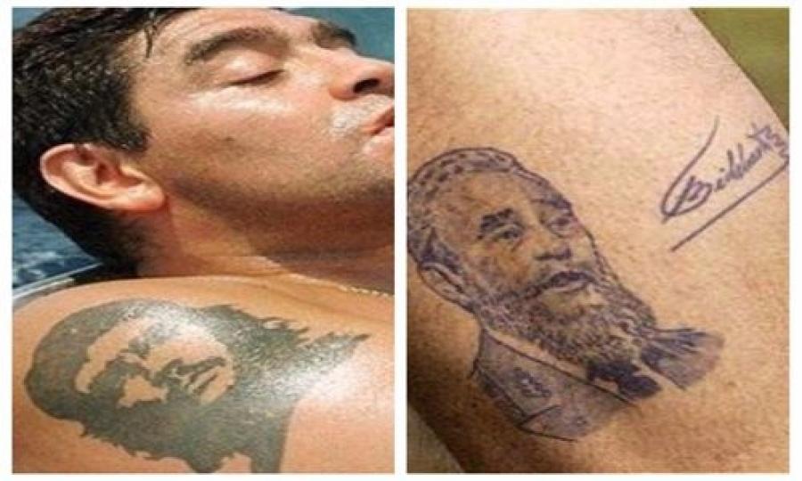 Resultado de imagen para tatuajes de maradona fotos