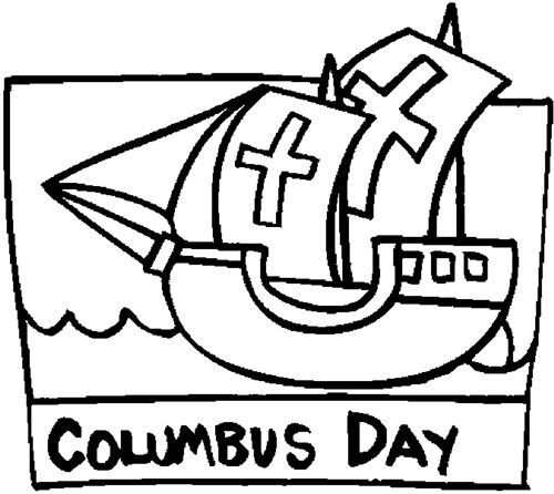 Free Columbus Day Coloring Pages Online