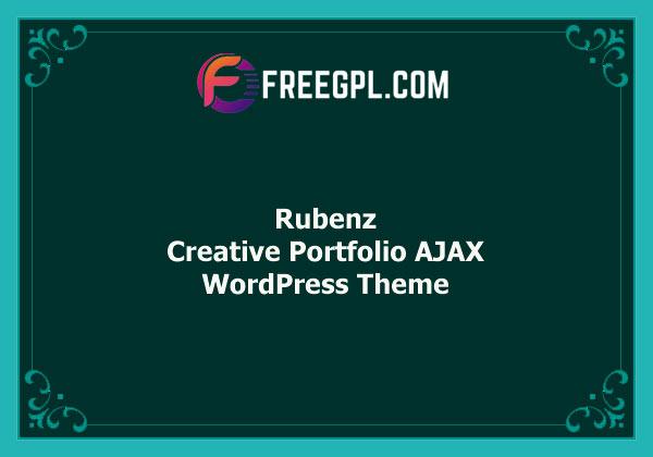 Rubenz - Creative Portfolio AJAX WordPress Theme Free Download