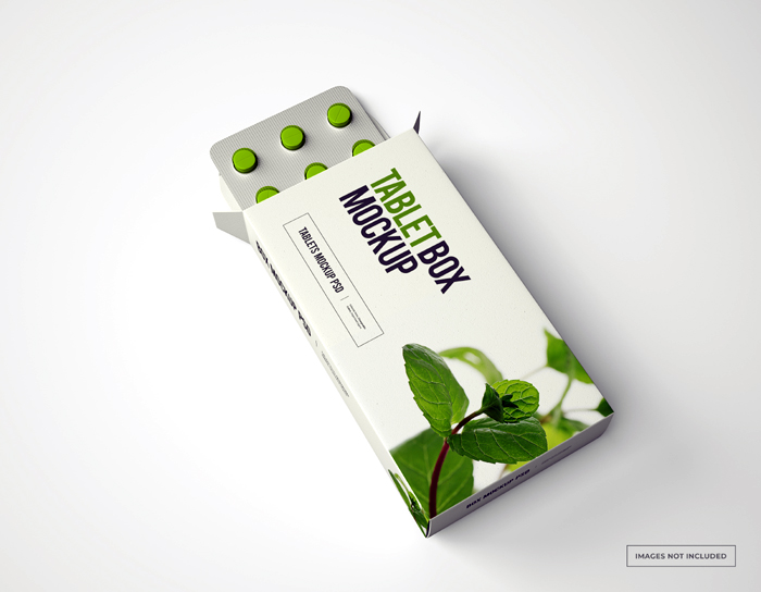 Pill Box Mockup With Loafs Tablets Psd Mockup