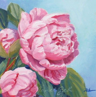 Zeh original art blog watercolor and oil paintings pink for How to oil paint flowers
