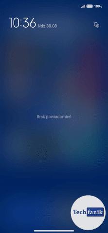 Redmi Note 9 Pasek z powiadomieniami