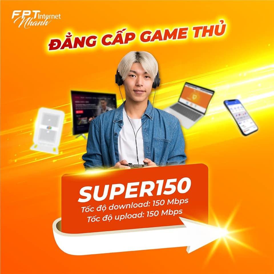 Gói cước Internet FPT 150Mbps dành cho đối tượng Game thủ