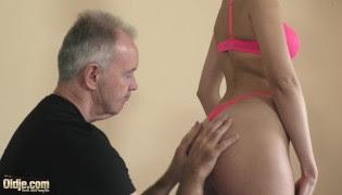 PornHub • Teen sucking grandpa's cock and taking cum in the face