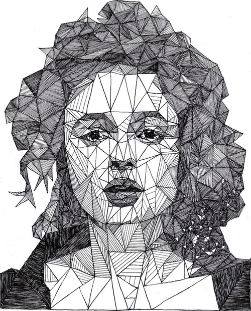 07-Helena-Bonham-Carter-Josh-Bryan-Monochromatic-Triangulation-Drawings-Portraits-www-designstack-co