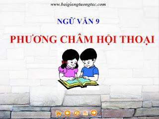 Bài giảng tương tác điện tử môn ngữ văn 9