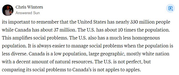 Why Does Canada Feel more Developed Than The USA