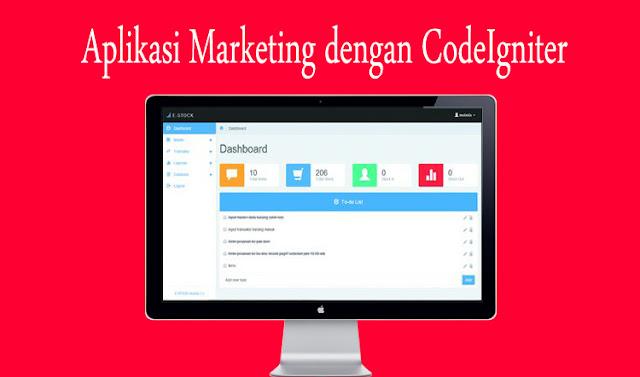 Download Source Code Aplikasi Marketing dengan CodeIgniter