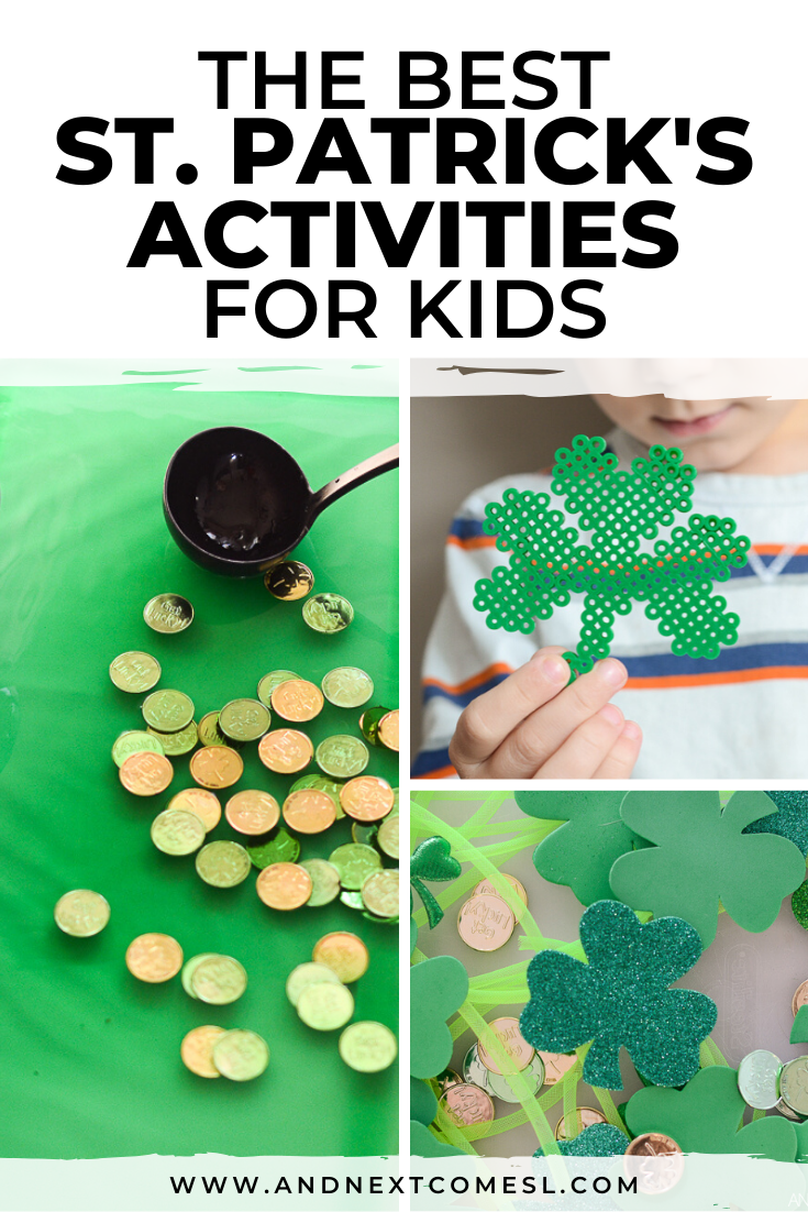 St. Patrick's Day activities for kids - including St. Patrick's Day sensory activities, shamrock crafts, and so much more!