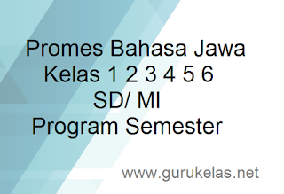 Promes Bahasa Jawa Kelas 1 2 3 4 5 6 SD/ MI Program Semester