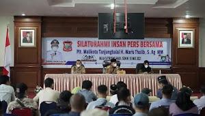 Plt Wali Kota Tanjungbalai Jalin Silaturahmi Dengan Insan Pers