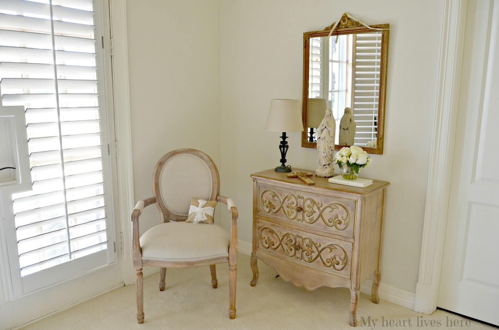 French Country Guest Bedroom - My Heart Lives Here