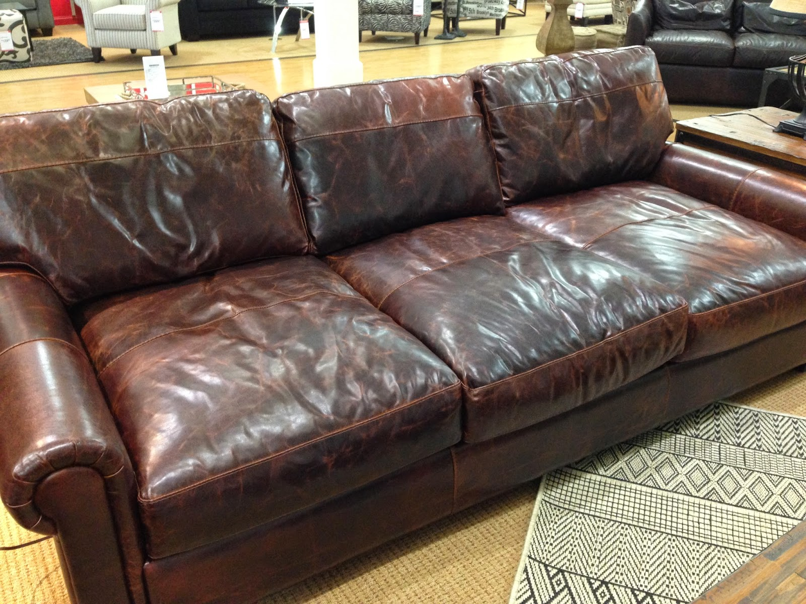 The Fat Hydrangea Restoration Hardware Knock Off Couch. Catchy Por Of Lancaster  Leather ...