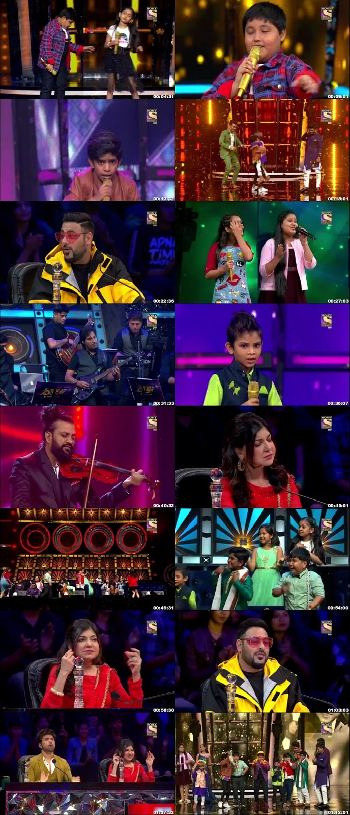 Screenshots Of Hindi Show Superstar Singer 4th August 2019 Episode 12 300MB 480P HD