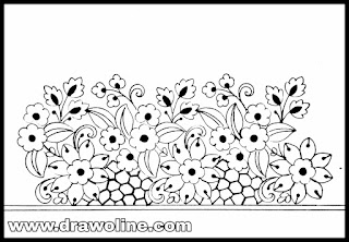 Flowers border design patterns 2020,, hand embroidery designs images free download, How to make flower border design.
