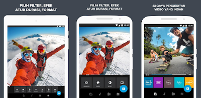 Aplikasi editing video Android : Quik