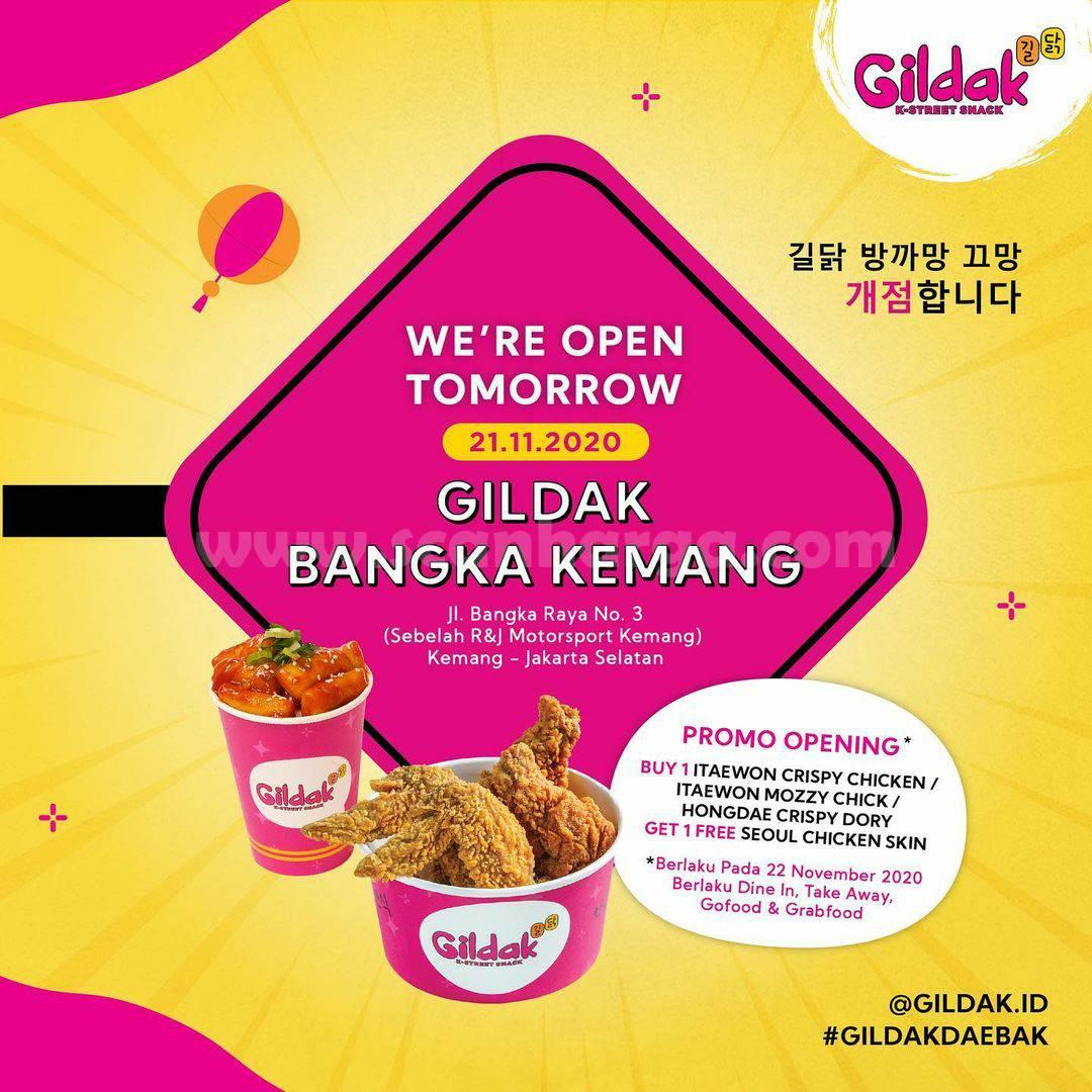 Gildak Bangka Kemang Opening Promo Buy 1 Get 1 Free