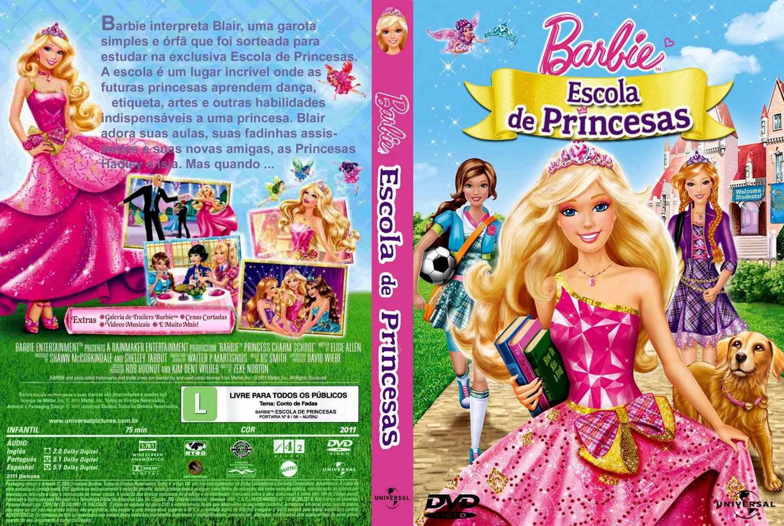 dvd barbie escola de princesas dublado
