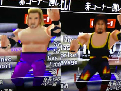 DDP e Syxx in ''Virtual Pro Wrestling 64''