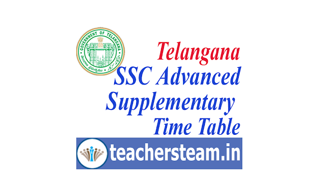 Telangana SSC Advanced Supplementary Time Table