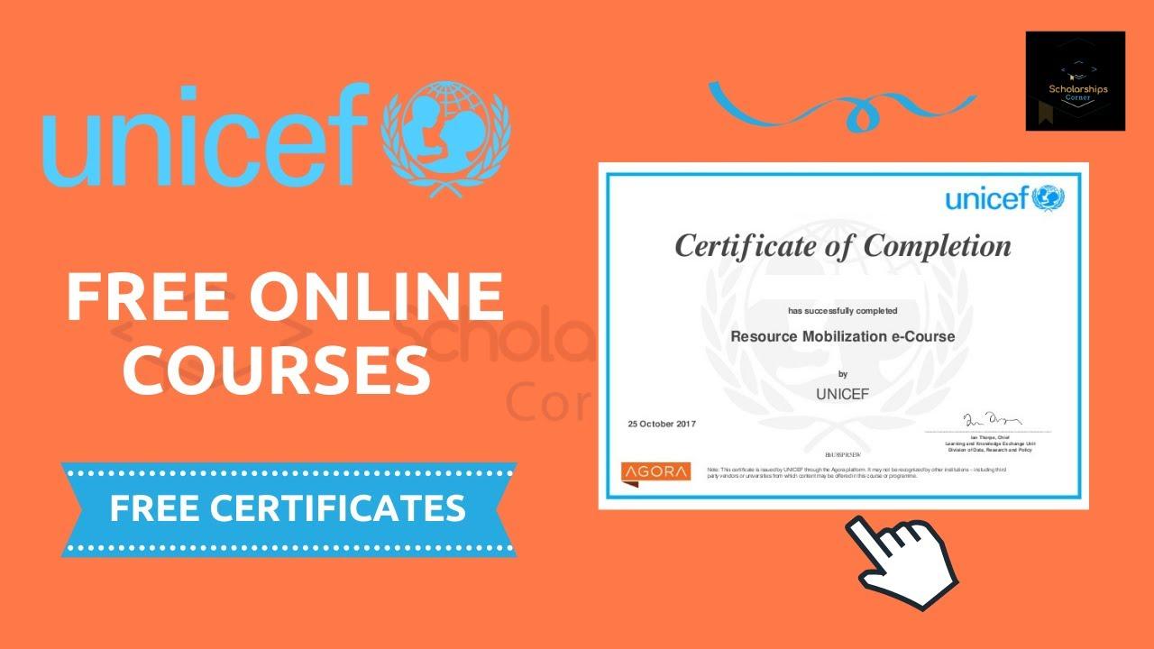 Cours en ligne gratuits avec certifications de l'UNICEF