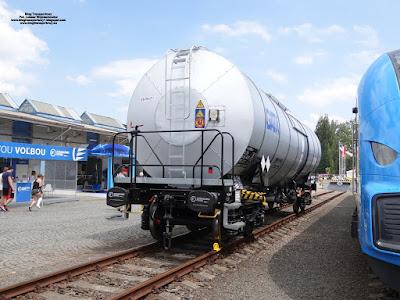 Cysterna serii Zacens, Tatravagónka, GATX, Czech Raildays 2018