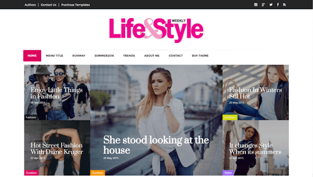 5 FREE BEAUTY AND LIFESTYLE  BLOGGER TEMPLATES FOR NEW BLOGGERS IN 2017