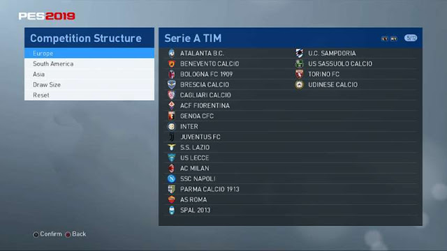 Option File Update For PTE 6 5 4 (09-08-2019) - PES 2017