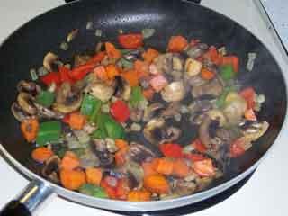 Veggie Fried Rice veggies